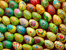 Multicolored easter eggs.Background. Stock Image