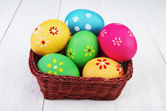 Multicolored easter eggs Stock Image