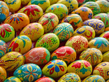 Multicolored easter eggs taken closeup.Background. Royalty Free Stock Image