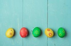 Multicolored easter eggs Stock Photo