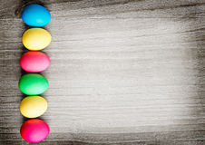 Multicolored easter eggs Stock Photo