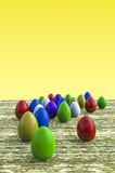 Multicolored easter eggs Royalty Free Stock Photos