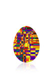Multicolored egg. On a white background Stock Photos