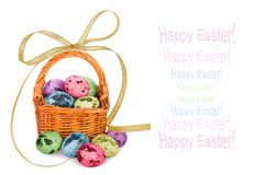 Multicolored eggs to celebrate Easter Royalty Free Stock Images