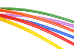 Multicolored electric cables Royalty Free Stock Images