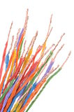 Multicolored electric cables Royalty Free Stock Photo