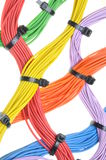 Multicolored electrical cables Stock Photography