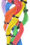 Multicolored electrical cables Stock Photos