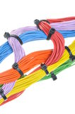 Multicolored electrical cables Royalty Free Stock Photo