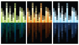 Multicolored equalizer on black Stock Photography