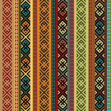 Multicolored ethnic seamless background. Stock Image