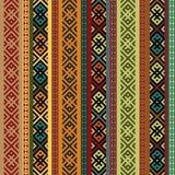 Multicolored etnische naadloze achtergrond. Stock Afbeelding
