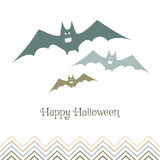 Multicolored evil bats. Bats for Halloween party. Vector bats for promotional products, for flyers or postcards Stock Image