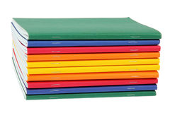 Multicolored exercise books Stock Photos
