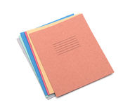 Multicolored exercise books Royalty Free Stock Image