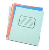 Multicolored exercise books Royalty Free Stock Images