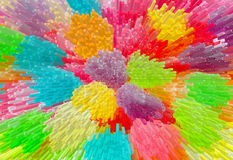 Multicolored extrude abstract background Stock Photos