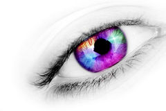 Multicolored Eye Royalty Free Stock Images