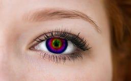 Multicolored eye. Stock Photos