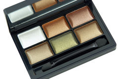 Multicolored  eye shadow kit Stock Photo