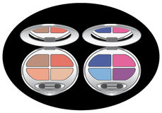 Multicolored eye shadows Royalty Free Stock Images