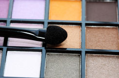 Multicolored eye shadows. Stock Image