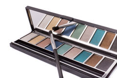 Multicolored eye shadows Royalty Free Stock Photography