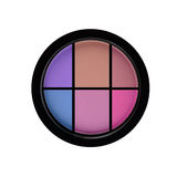 Multicolored eye shadows isolated on white isolated on Royalty Free Stock Images