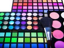 Multicolored eye shadows Stock Image