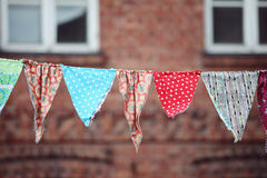 Multicolored fabric flags Royalty Free Stock Image