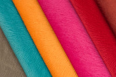 Multicolored Fabric Swatches Stock Images