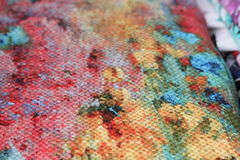 Multicolored fabric texture Stock Images