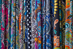 Multicolored fabrics Stock Photo