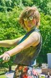 Multicolored face Stock Photo