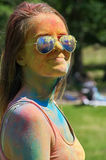 Multicolored face Royalty Free Stock Photography