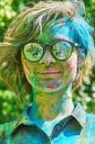 Multicolored face Royalty Free Stock Photos