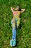 Multicolored face Stock Image