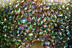 multicolored faceted crystals Royalty Free Stock Images