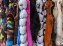 Multicolored fauxbontjassen stock afbeelding
