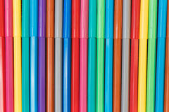 Multicolored Felt Pens Stock Photography
