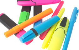 Multicolored Felt-Tip Pens Royalty Free Stock Images