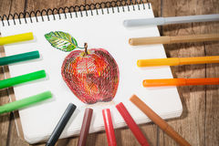 Multicolored Felt Tip Pens Stock Photography