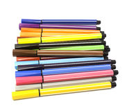 Multicolored Felt-Tip Pens Stock Photography