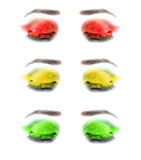 Multicolored female eyes. Close-up. Royalty Free Stock Images