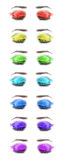 Multicolored female eyes. Close-up. Stock Photography