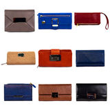 Multicolored female purses-1 Stock Photography