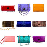 Multicolored female purses-6 Stock Images