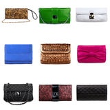 Multicolored female purses-7 Stock Photography