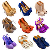 Multicolored female shoes-15 Stock Photos