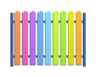 Multicolored fence illustration pattern. Multicolored fence illustration for children. Bright colors pattern for children playground or more stock illustration